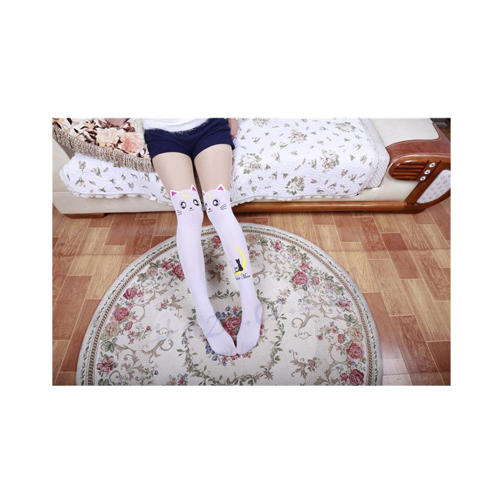 Sailor Moon Artemis White Silk Knee  Stockings Pantyhoses